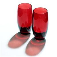 Joy Glass 2 Li Kırmızı Meşrubat Bardağı