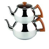 Özkent K-314.03 Marmaris Ahşap Mini Çaydanlık