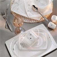 Kütahya Porselen Aliza Bone 12 Kişilik 83 Parça 25123 Desenli Yemek Takımı