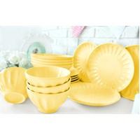 Keramika Takım Yemek Badem 16 Parça Acık Sarı 103