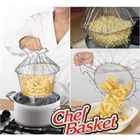 Bluezen Çok Fonksiyonlu Pratik Süzgeç Chef Basket