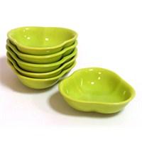 Keramika 6'lı Çerezlik Yonca 13 Cm Yeşil 302