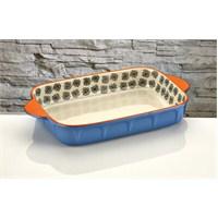 iHouse Bnf05-Porselen Fırın Kabı-Mavi