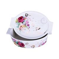 iHouse 33203-Kapaklı Porselen Fırın Kabı 29X19x8-Beyaz