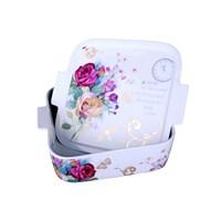iHouse 33207-Kapaklı Porselen Fırın Kabı 26X23x8cm-Beyaz