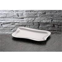 iHouse Lx05 Porselen Servis Tabağı Beyaz