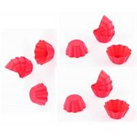Dekotrends 18'Li Kırmızı Muffinform Silikon Mini Kek Kalıbı