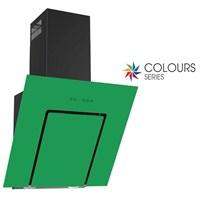 Termikel Lumex 6035 GR 60 Cm Dekoratif Yatay Yeşil Cam Davlumbaz