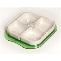Atadan 4 lü Dısplay Kare Kahvaltı Seti-Yeşil-CK281
