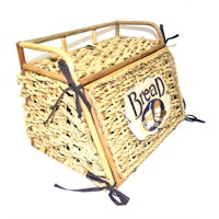 Cosıness Önden Kapaklı Hasır Ekmek Sepeti - Natural