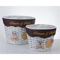 Cosıness Hasır Patates Soğan Sepeti 2 Li