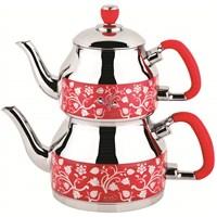 Özkent K-333 Symbol Desenli Çaydanlık Kırmızı