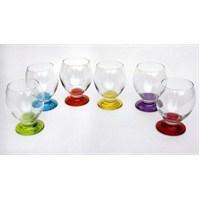 Lav Renkli Meşrubat Bardağıayaklı 6Lı