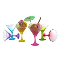 Joy Glass 6'Lı Renkli Dondurmalık