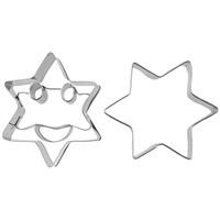Fackelmann 2 'Li Yıldız Şekilli Gülen Yüzlü Kurabiye Kalıbı