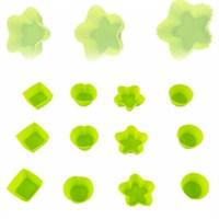 Atadan 12 li Silikon Mini Kek Kalıbı Yeşil