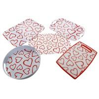 Bosphorus Melamin Beyaz Kalp 5li Set