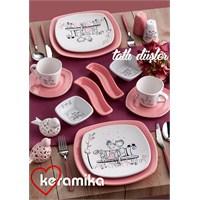 Keramika Set Köşem Kahvaltı 14 Parça Tatlı Düş