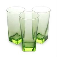 Paşabahçe Carre Bardak 6'Li Set Yeşil