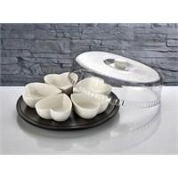 Fidex Home Dönerli Porselen Kalpli Kahvaltılık 7 Parça