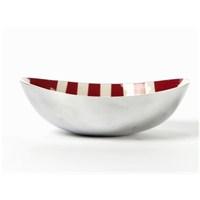 I Love Home Oval Çanak Büyük Kırmızı Beyaz