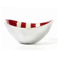 I Love Home Oval Çanak Küçük Kırmızı Beyaz