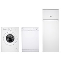 Vestel Beyaz Eşya Paketi I (EKO 5708 T A+ 5 Kg Çamaşır Makinesi + BME-M201 W A+ 2 Programlı Bulaşık Makinesi + EKO SC250 A+ 250 Lt Buzdolabı)
