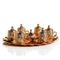Sena Lalezar 6'Lı Kahve Seti Altın Sarı