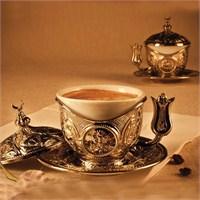 Sena Tiryaki Kahve Fincanı Hilalli Nikel (6'lı Paket)