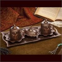 Sena Lalezar 2'Li Kahve Seti Antik Bakır