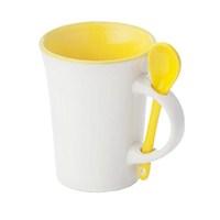 Pf Concept 11246104 Kaşıklı Seramik Kupa Sarı Beyaz