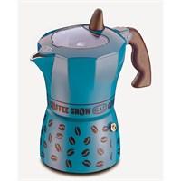 Gat Coffee Show Moka Makinası 6 Kişilik Mavi
