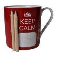 Biggdesign Keep Calm Kırmızı Kupa