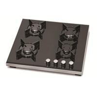 Simfer 3031 4 Gözü Gazlı Siyah Setüstü Cam Ocak (İllk Montajda Ücretsiz LPG veya Doğalgaz Dönüşümü)