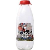 Cosıness Desenli Süt Şişesi 1 Lt.-İki İnekli