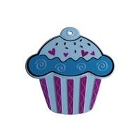 Tantitoni Silikon Turkuaz Cupcake Şekilli Nihale