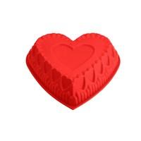 Tantitoni Silikon Kırmızı Kalp Şekilli Kek Kalıbı
