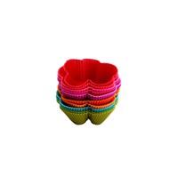 Tantitoni Silikon Renkli Çiçek Şekilli 12'Li Muffin Kalıbı