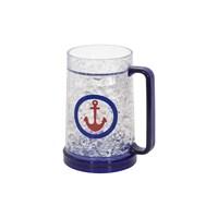 Tantitoni Mavi Soğutucu Jel Dolgulu Bira Bardağı - 470Ml