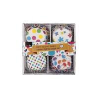 Tantitoni Dört Desenli Renkli Cupcake Pişirme Kağıdı Seti - 100'Lü
