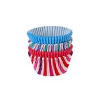 Tantitoni İki Renkli Çizgili Cupcake Pişirme Kağıdı Seti - 100'Lü