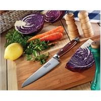RooC House Chef Bıçak PL01 Pakkawood Ahşap Sap Pimli