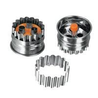 Metaltex Paslanmaz Çelik 3 Delikli Marmelat Dolum Hazneli Kurabiye Kalıbı