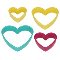 Metaltex Plastik Kalp Şekilli Kurabiye Kalıbı ( 4 Lü Set )