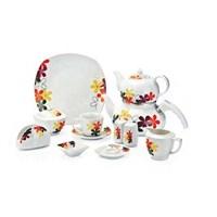 Güral Porselen 43 Parça 52750 Kare Kahvaltı Takımı