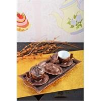 Royal Windsor Bakır 11 Parça Porland Fincanlı Kahve Sunum Seti
