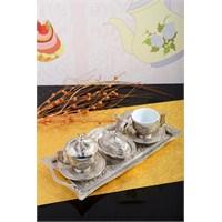 Royal Windsor Gümüş 11 Parça Porland Fincanlı Kahve Sunum Seti