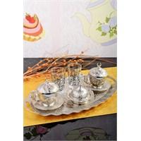 Royal Windsor Gümüş 13 Parça Porland Fincanlı Kahve Sunum Seti