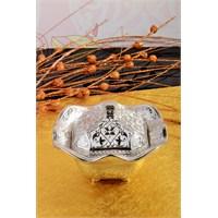 Royal Windsor Kabartma Desenli Lüx Gümüş Şekerlik