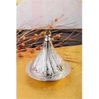 Royal Windsor Kubbe Şekil Kabartmalı Gümüş Lokumluk - Küçük